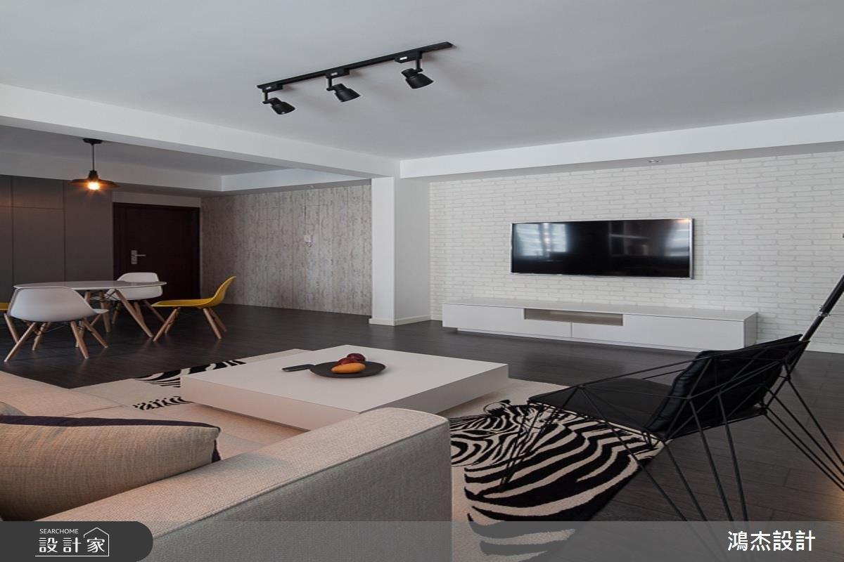 35坪新成屋(5年以下)_混搭風客廳案例圖片_鴻杰室內設計_鴻杰_32之3