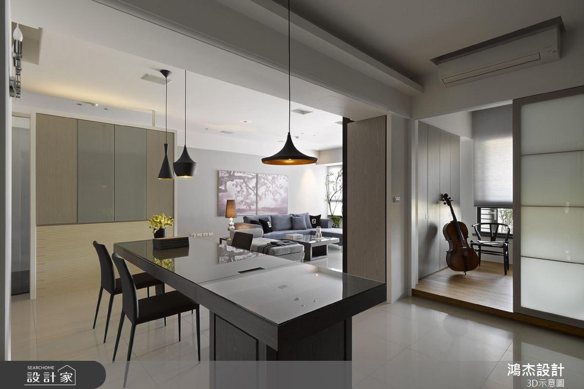 22坪中古屋(5~15年)_混搭風餐廳案例圖片_鴻杰室內設計_鴻杰_33之5