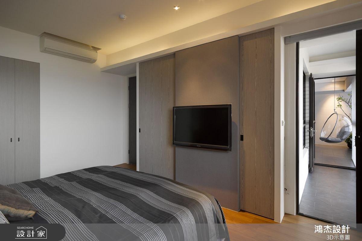 22坪中古屋(5~15年)_混搭風臥室案例圖片_鴻杰室內設計_鴻杰_33之8