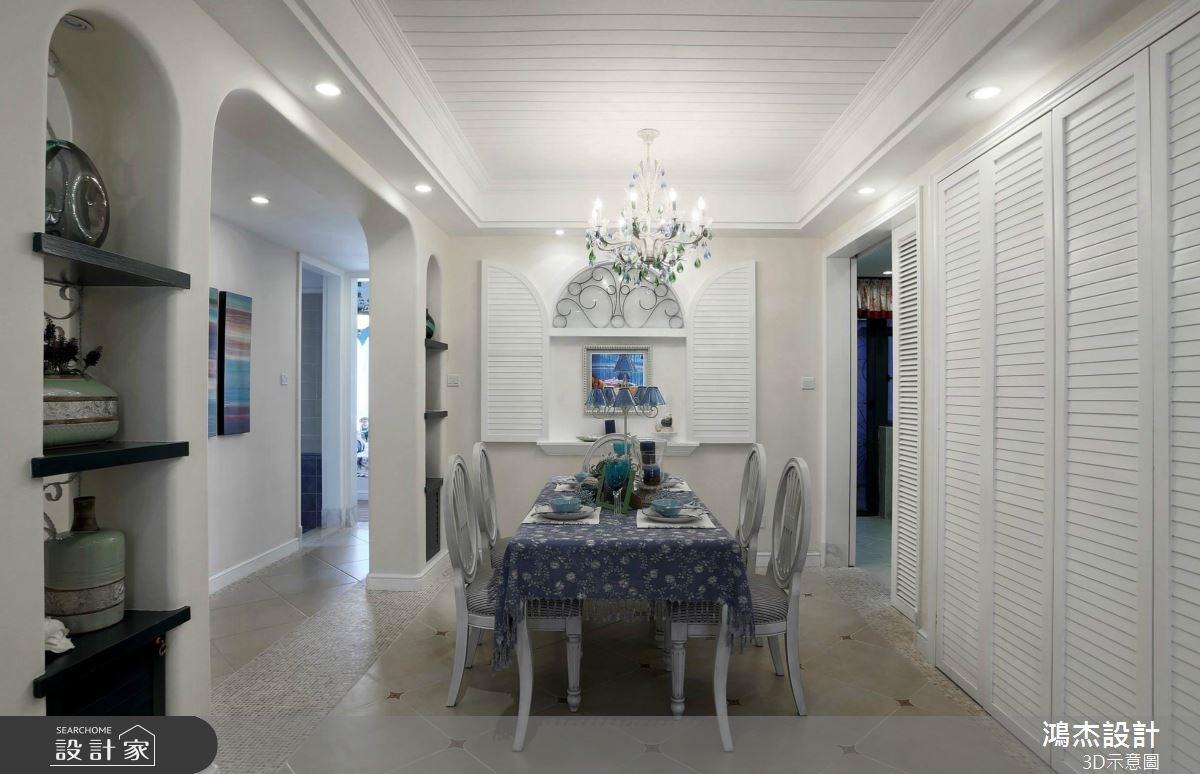 36坪_地中海風餐廳案例圖片_鴻杰室內設計_鴻杰_34之4