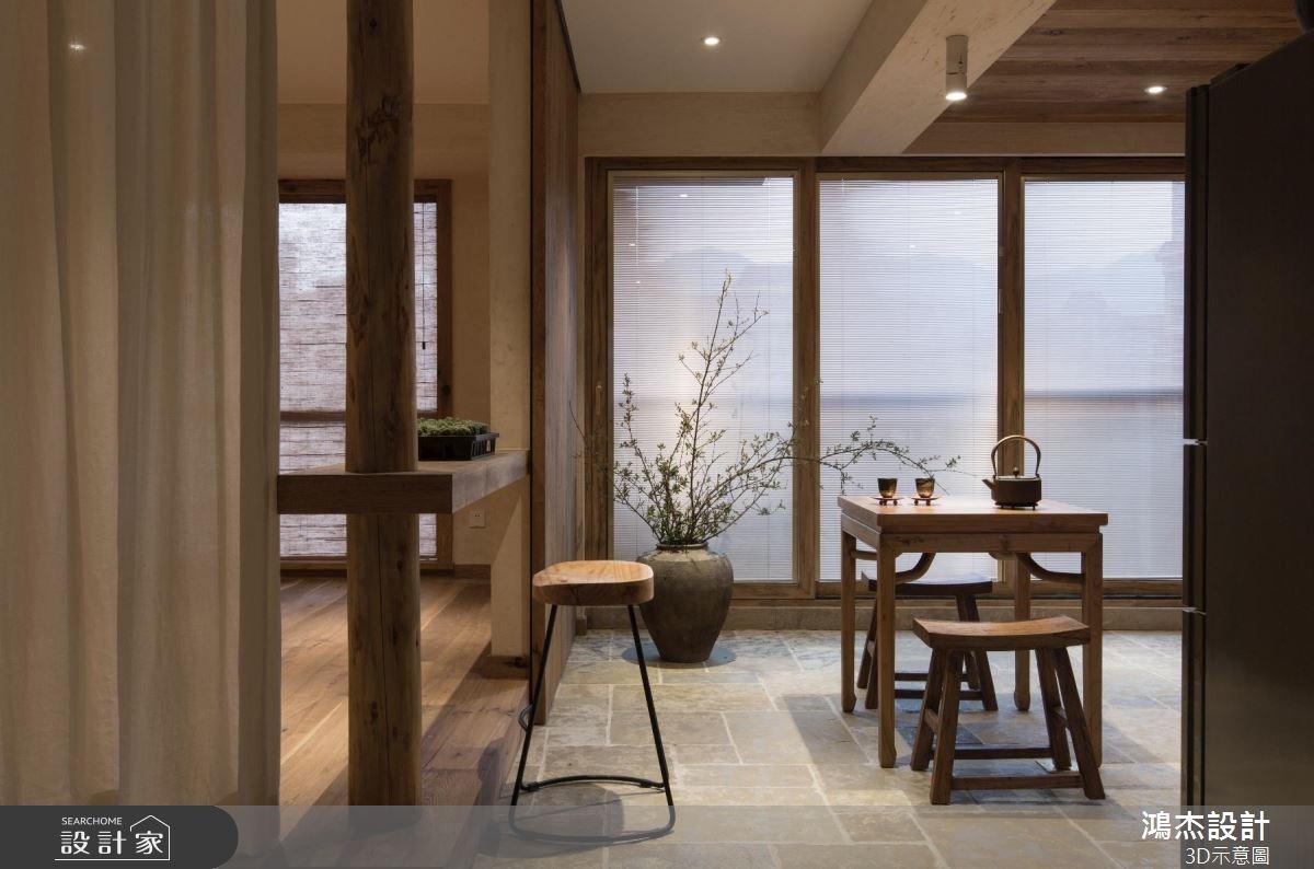 36坪新成屋(5年以下)_人文禪風餐廳案例圖片_鴻杰室內設計_鴻杰_35之4