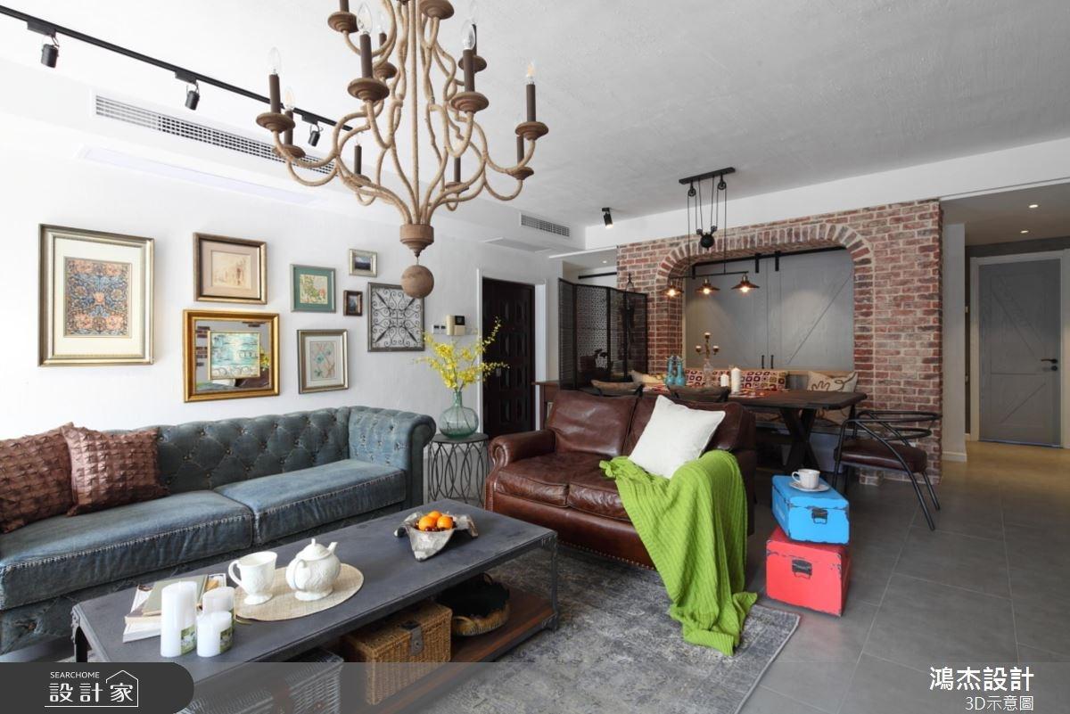 36坪老屋(16~30年)_混搭風客廳案例圖片_鴻杰室內設計_鴻杰_36之2