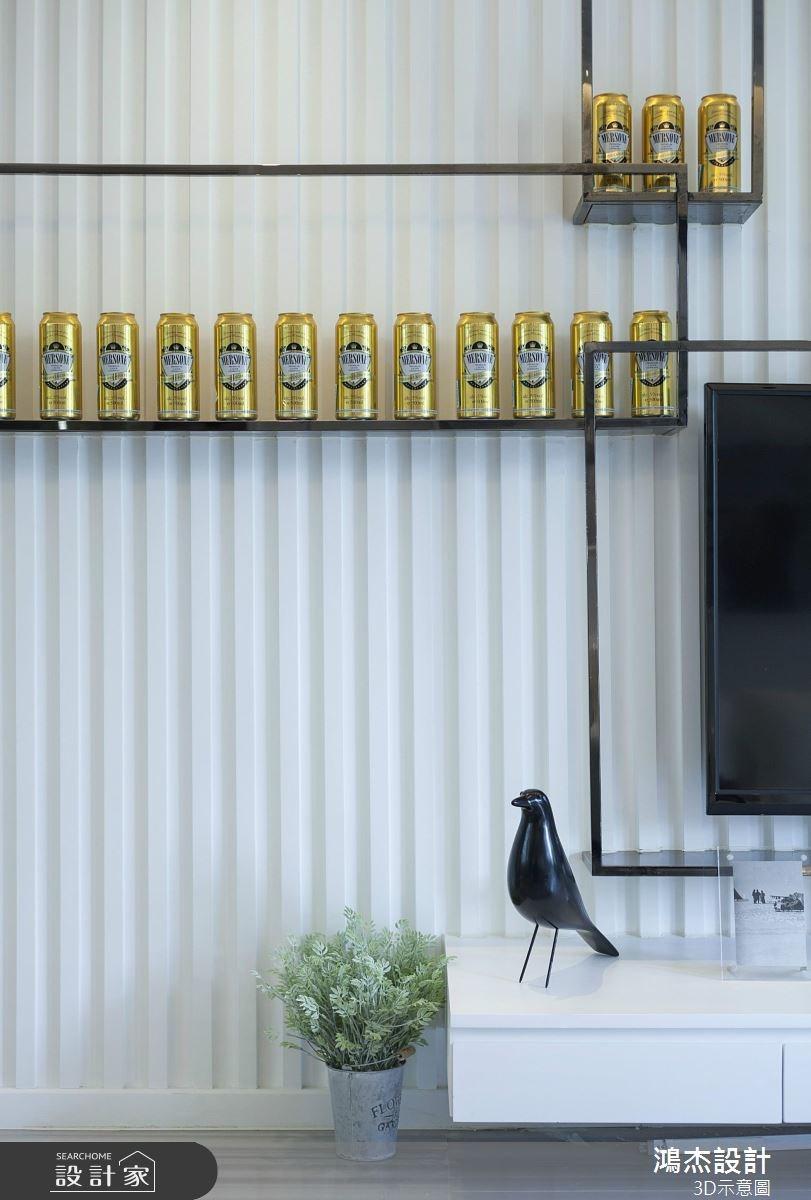 72坪新成屋(5年以下)_現代風客廳案例圖片_鴻杰室內設計_鴻杰_37之2