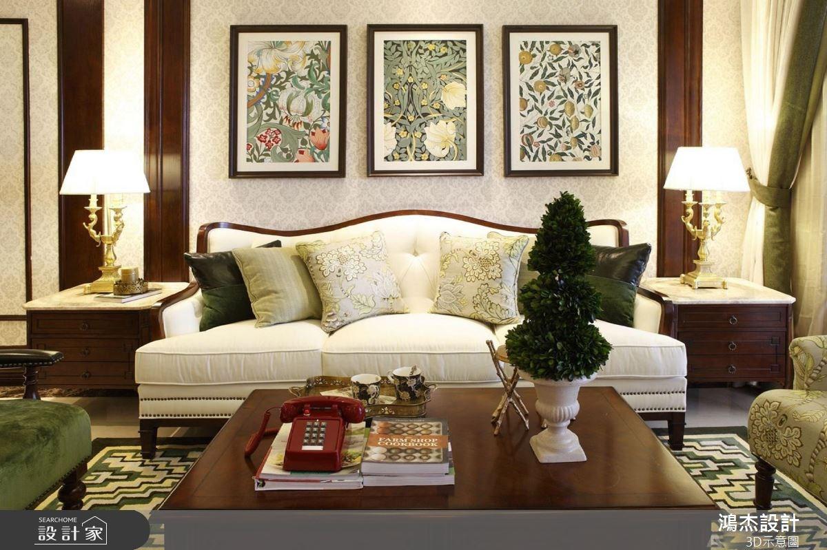 56坪新成屋(5年以下)_美式風客廳案例圖片_鴻杰室內設計_鴻杰_38之2