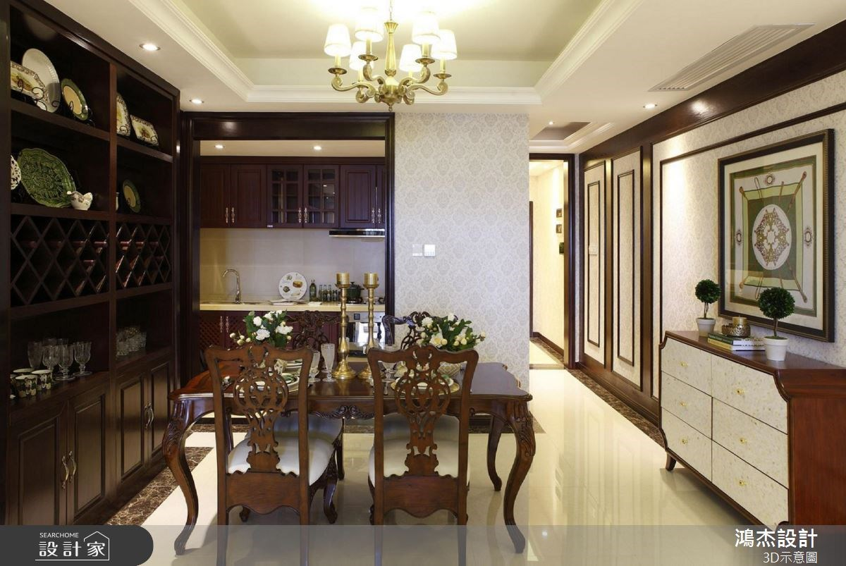 56坪新成屋(5年以下)_美式風餐廳案例圖片_鴻杰室內設計_鴻杰_38之3