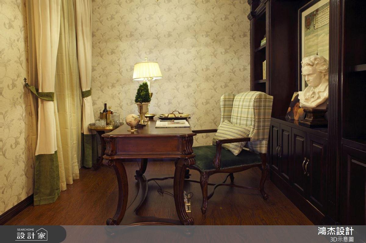 56坪新成屋(5年以下)_美式風書房案例圖片_鴻杰室內設計_鴻杰_38之8