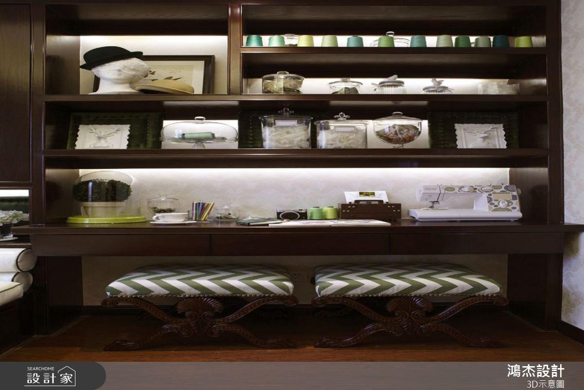 56坪新成屋(5年以下)_美式風書房案例圖片_鴻杰室內設計_鴻杰_38之12