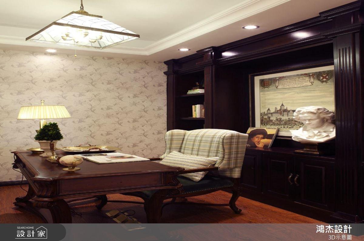 56坪新成屋(5年以下)_美式風書房案例圖片_鴻杰室內設計_鴻杰_38之13