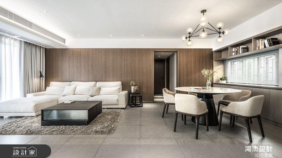 40坪新成屋(5年以下)_簡約風客廳餐廳案例圖片_鴻杰室內設計_鴻杰_41之1