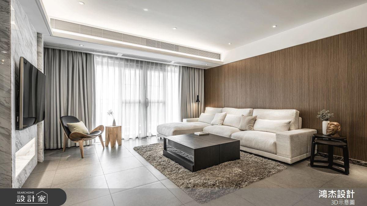40坪新成屋(5年以下)_簡約風客廳案例圖片_鴻杰室內設計_鴻杰_41之2