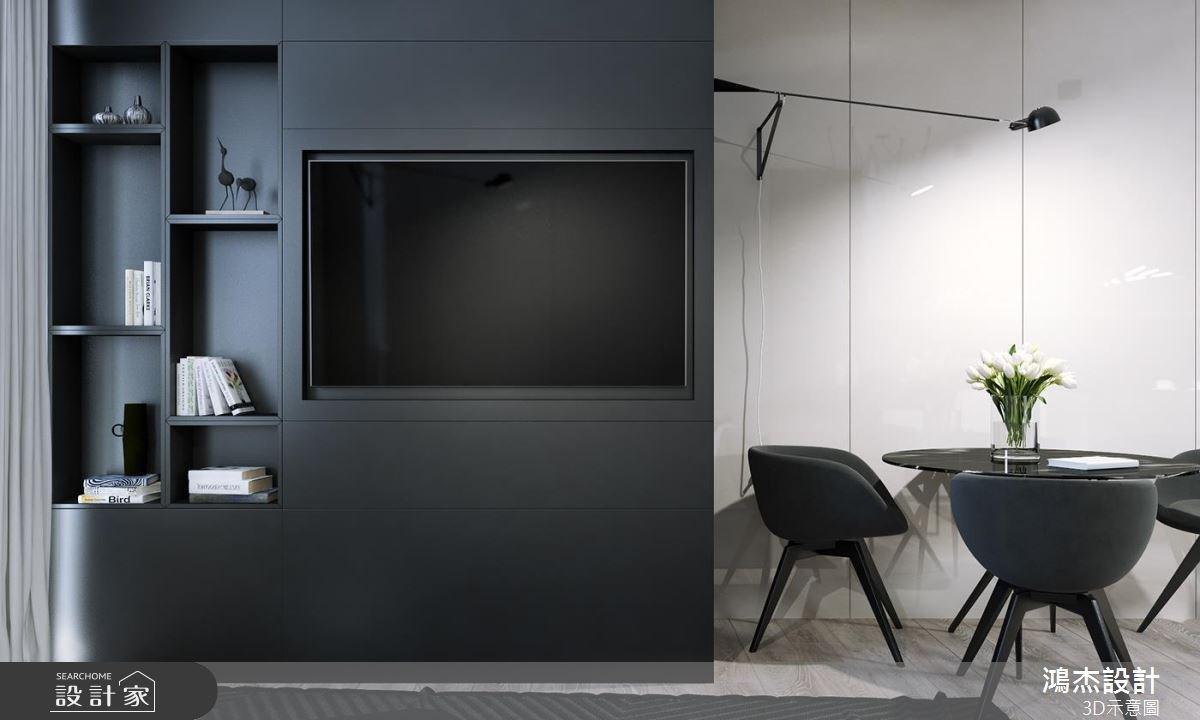 52坪新成屋(5年以下)_工業風客廳案例圖片_鴻杰室內設計_鴻杰_43之4