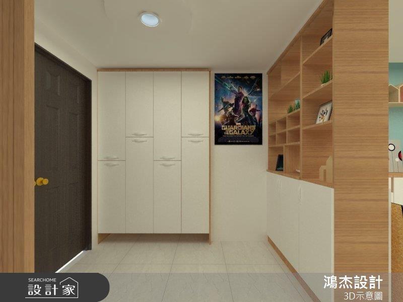 42坪新成屋(5年以下)_混搭風玄關案例圖片_鴻杰室內設計_鴻杰_44之1
