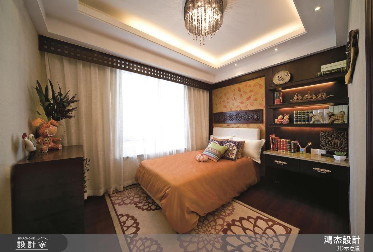 57坪老屋(16~30年)_新中式風臥室案例圖片_鴻杰室內設計_鴻杰_46之6