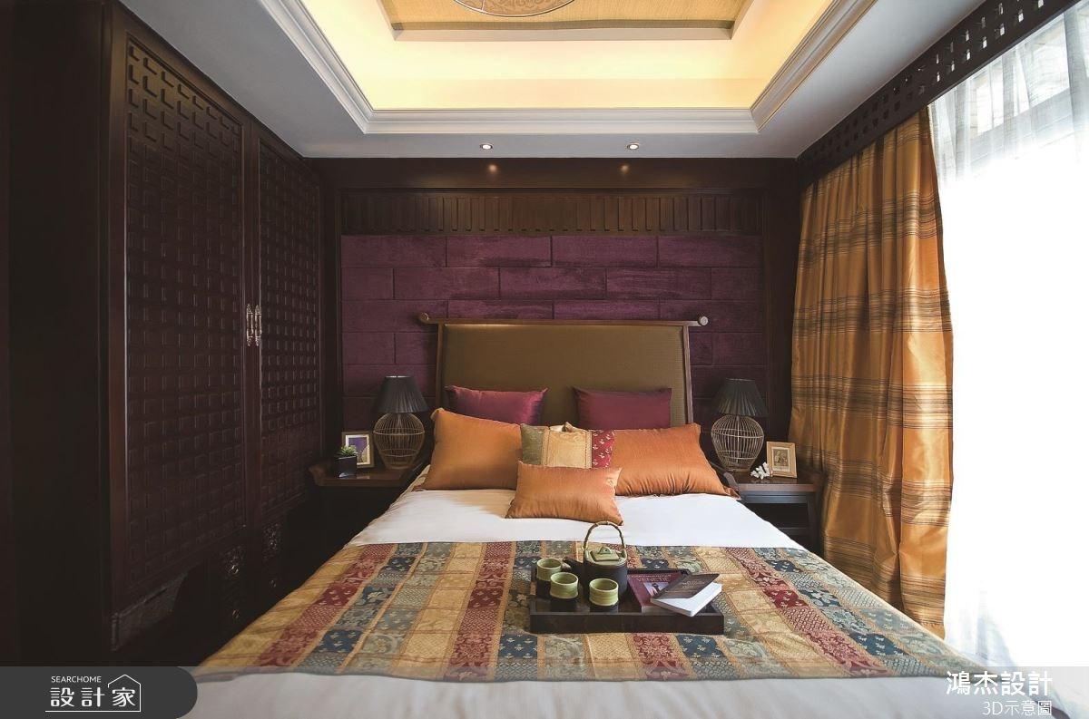 57坪老屋(16~30年)_新中式風臥室案例圖片_鴻杰室內設計_鴻杰_46之7