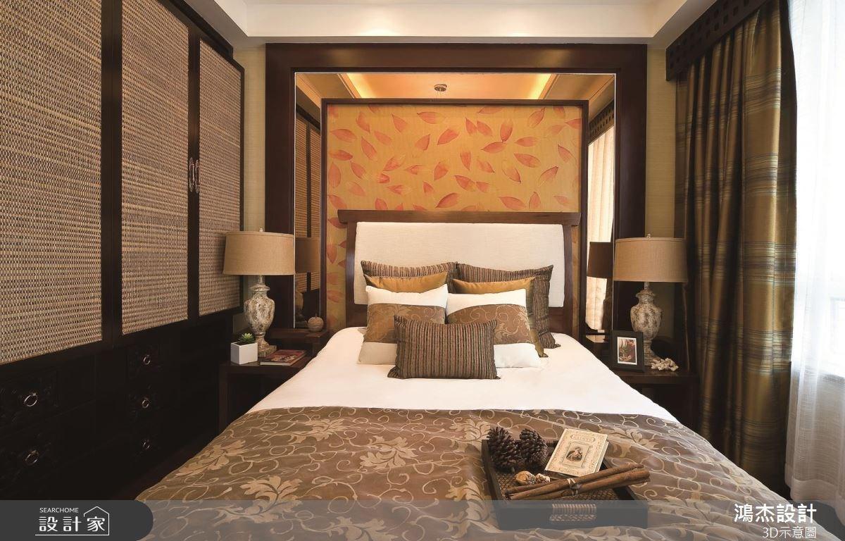 57坪老屋(16~30年)_新中式風臥室案例圖片_鴻杰室內設計_鴻杰_46之8