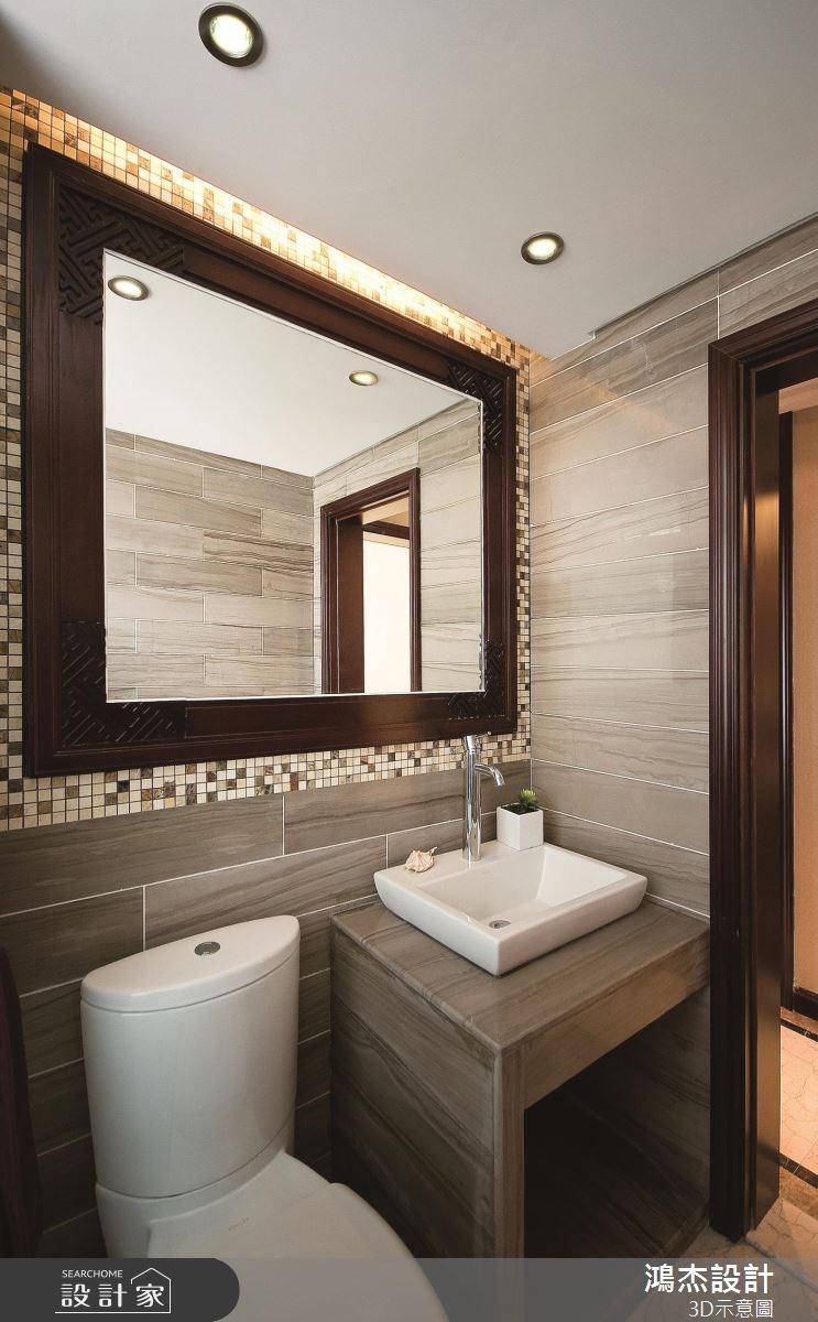 57坪老屋(16~30年)_新中式風浴室案例圖片_鴻杰室內設計_鴻杰_46之11