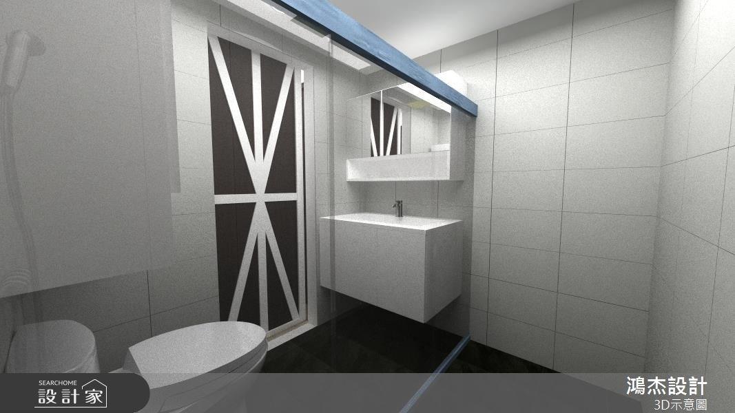 42坪老屋(16~30年)_北歐風浴室案例圖片_鴻杰室內設計_鴻杰_47之9