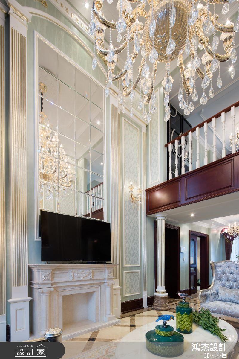 72坪新成屋(5年以下)_奢華風客廳案例圖片_鴻杰室內設計_鴻杰_48之4