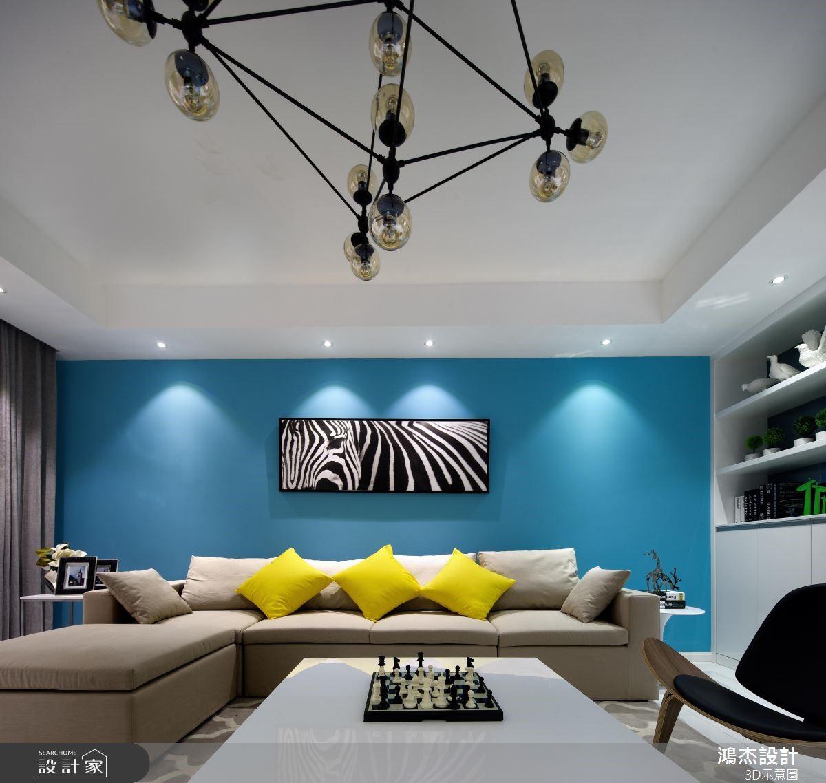 78坪新成屋(5年以下)_混搭風客廳案例圖片_鴻杰室內設計_鴻杰_49之3