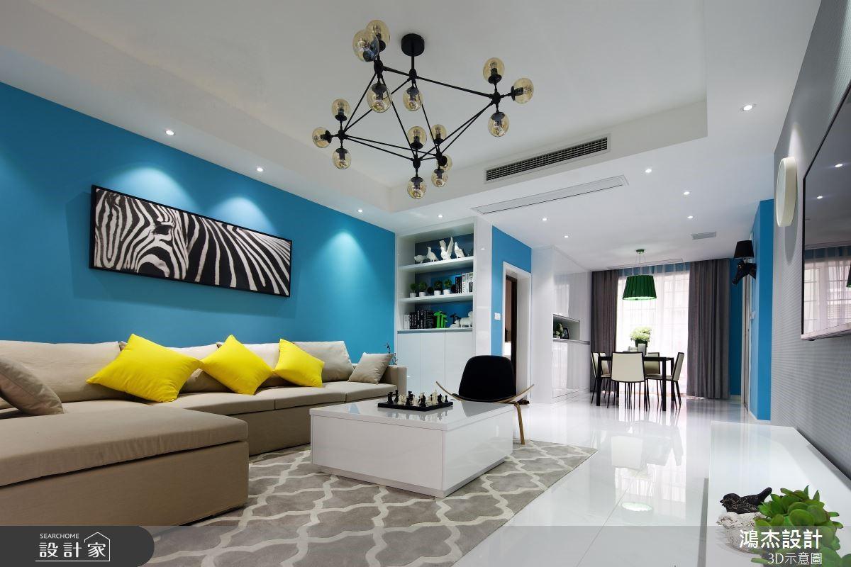 78坪新成屋(5年以下)_混搭風客廳案例圖片_鴻杰室內設計_鴻杰_49之4