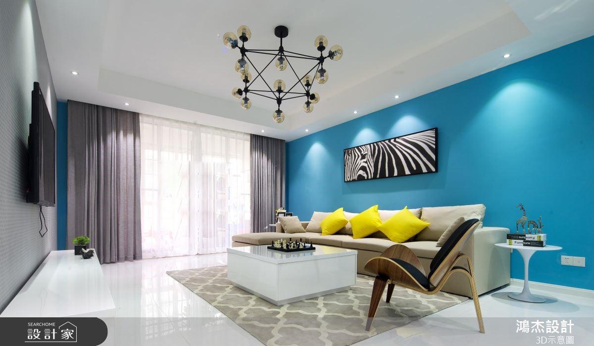 78坪新成屋(5年以下)_混搭風客廳案例圖片_鴻杰室內設計_鴻杰_49之2
