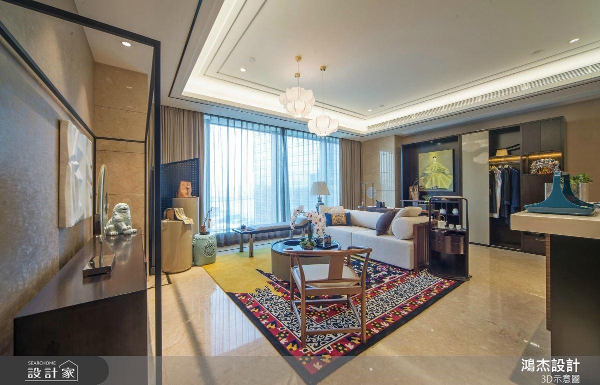 82坪新成屋(5年以下)_混搭風客廳案例圖片_鴻杰室內設計_鴻杰_51之3