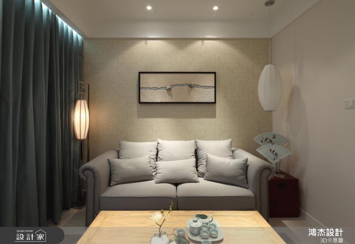 36坪新成屋(5年以下)_混搭風客廳案例圖片_鴻杰室內設計_鴻杰_52之3