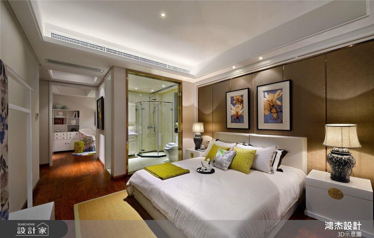 64坪預售屋_新中式風臥室案例圖片_鴻杰室內設計_鴻杰_53之7