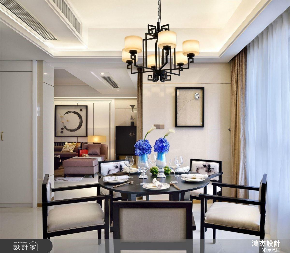 64坪預售屋_新中式風餐廳案例圖片_鴻杰室內設計_鴻杰_53之4