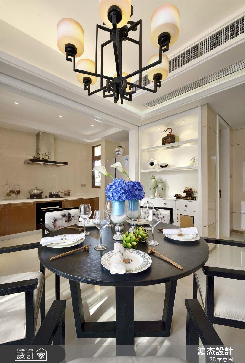64坪預售屋_新中式風餐廳案例圖片_鴻杰室內設計_鴻杰_53之5