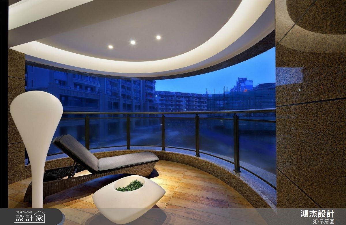 64坪預售屋_新中式風陽台案例圖片_鴻杰室內設計_鴻杰_53之12
