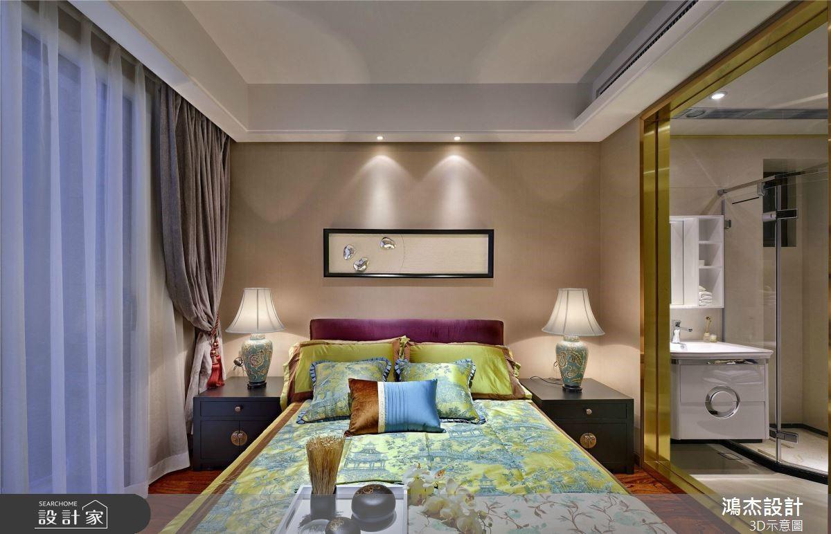 64坪預售屋_新中式風臥室案例圖片_鴻杰室內設計_鴻杰_53之9