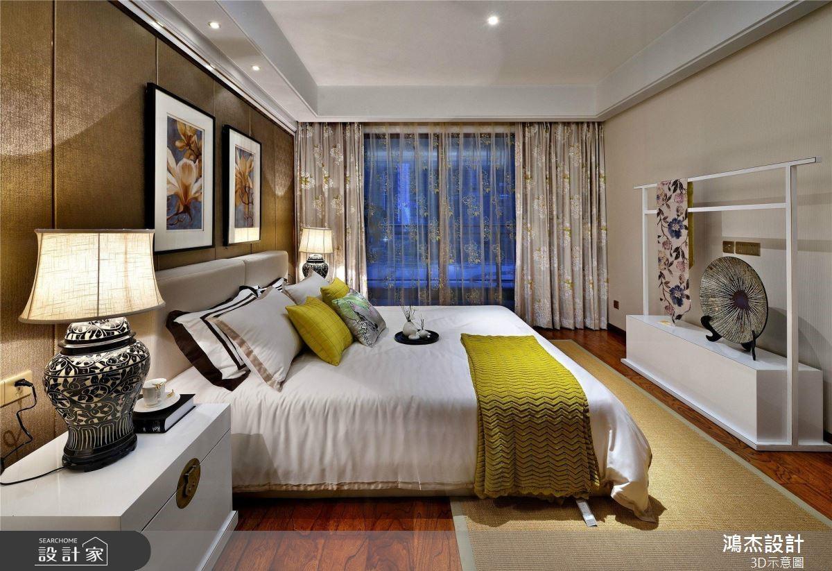 64坪預售屋_新中式風臥室案例圖片_鴻杰室內設計_鴻杰_53之6