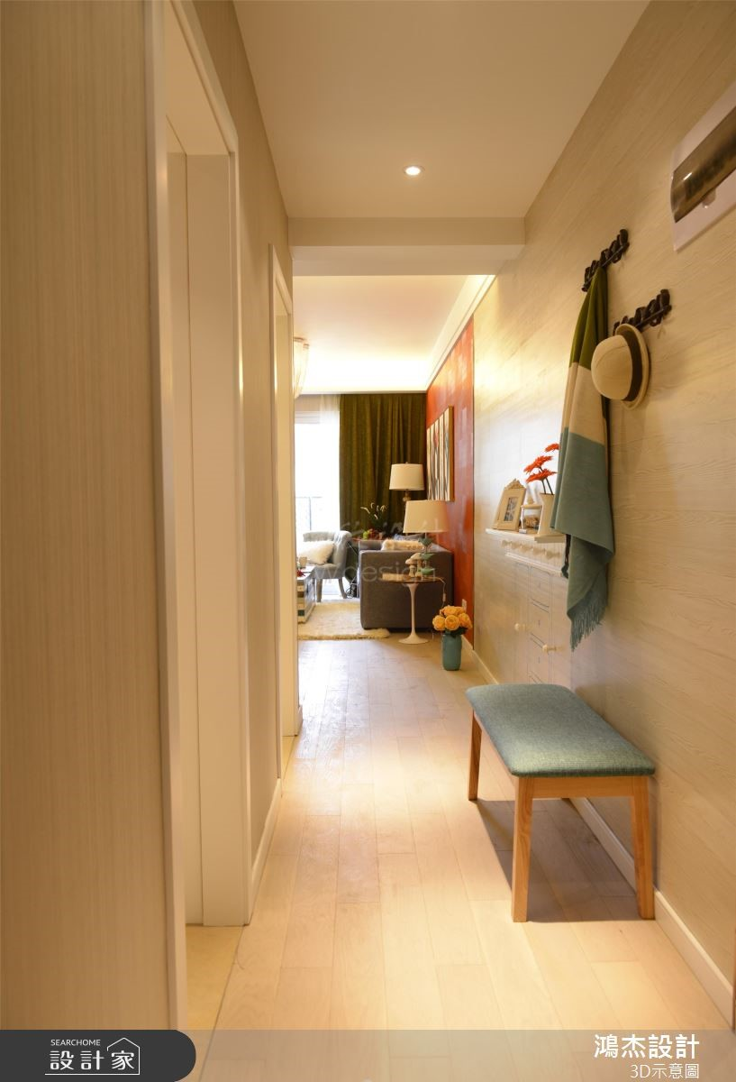 68坪新成屋(5年以下)_北歐風案例圖片_鴻杰室內設計_鴻杰_58之1
