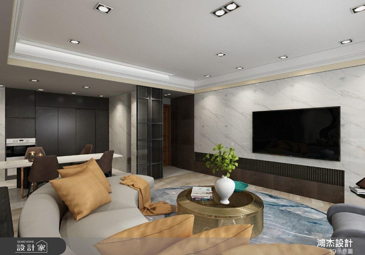 64坪新成屋(5年以下)_混搭風案例圖片_鴻杰室內設計_鴻杰_59之3