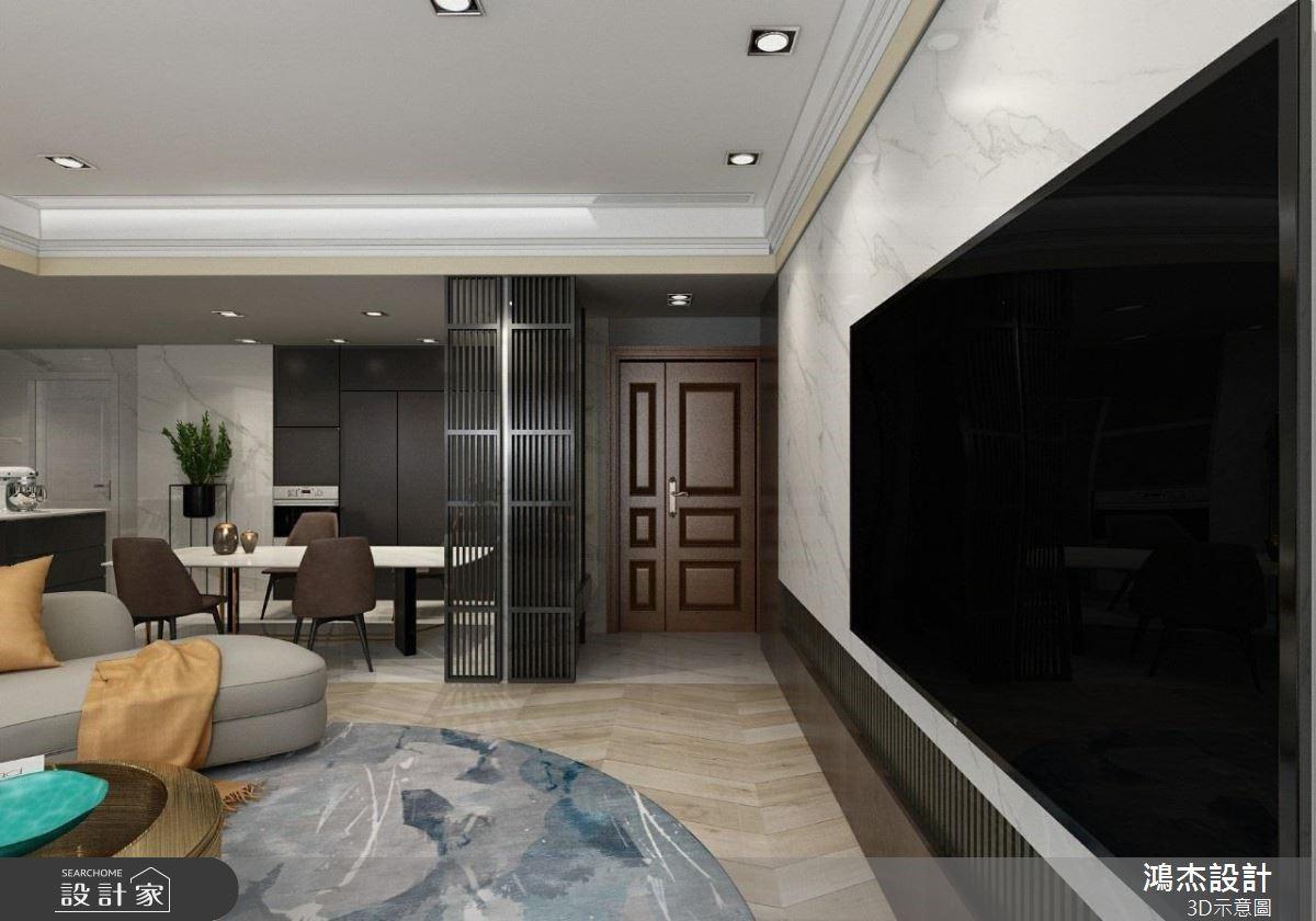 64坪新成屋(5年以下)_混搭風案例圖片_鴻杰室內設計_鴻杰_59之2