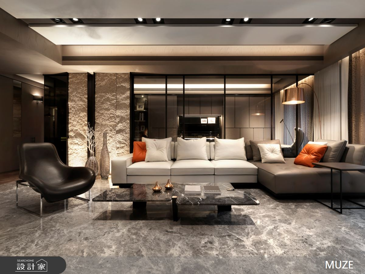 60坪新成屋(5年以下)_奢華風客廳案例圖片_慕澤設計室內裝修股份有限公司_慕澤_36之2