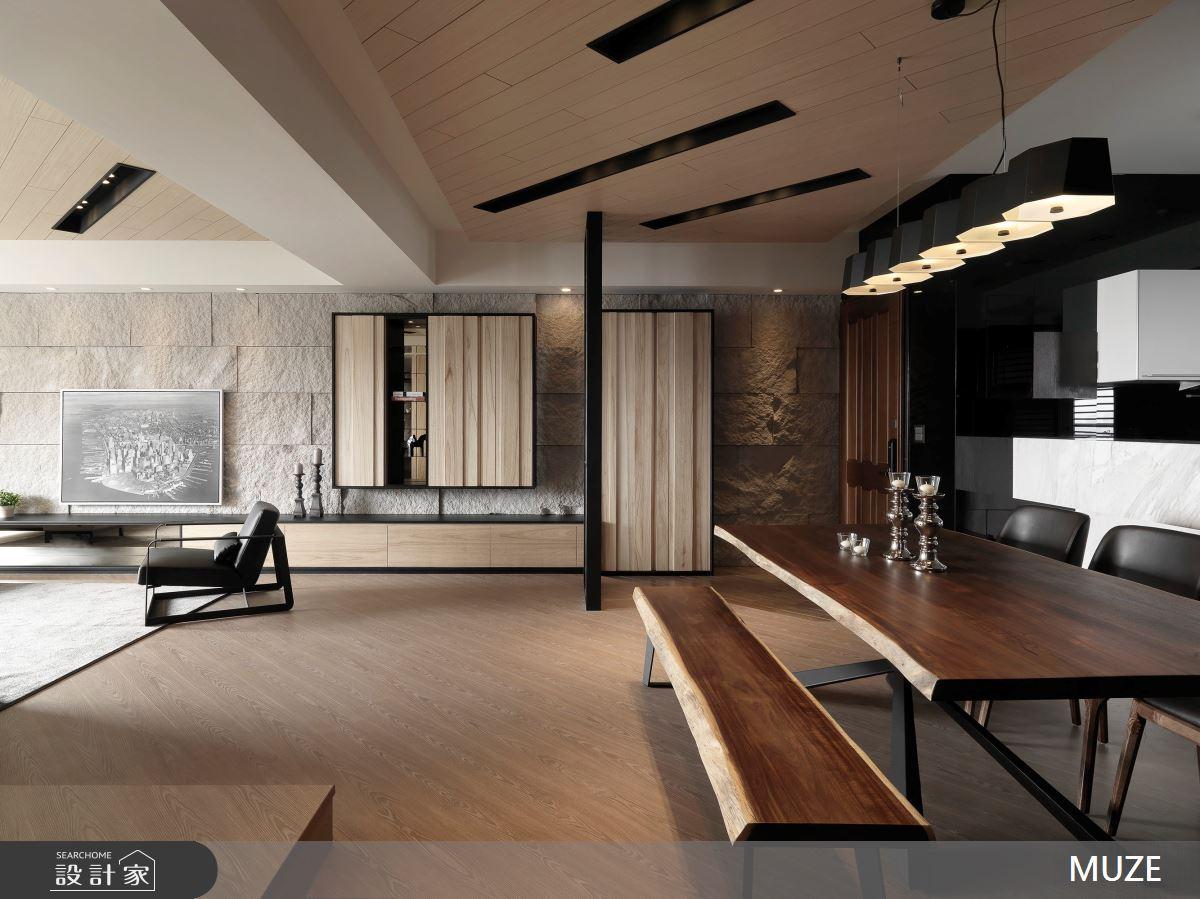 88坪新成屋(5年以下)_現代風餐廳案例圖片_慕澤設計室內裝修股份有限公司_慕澤_37之2