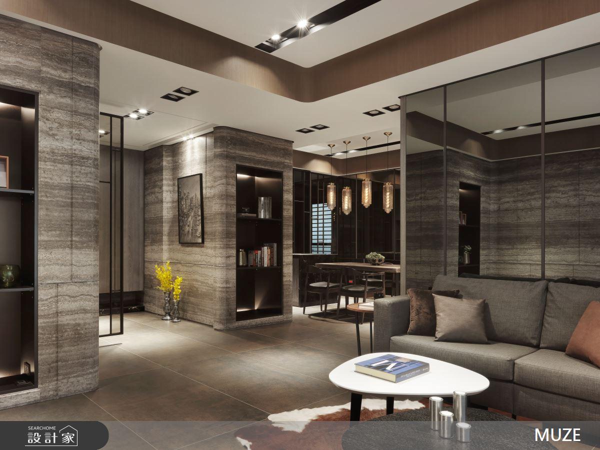 60坪新成屋(5年以下)_現代風客廳案例圖片_慕澤設計室內裝修股份有限公司_慕澤_42之3