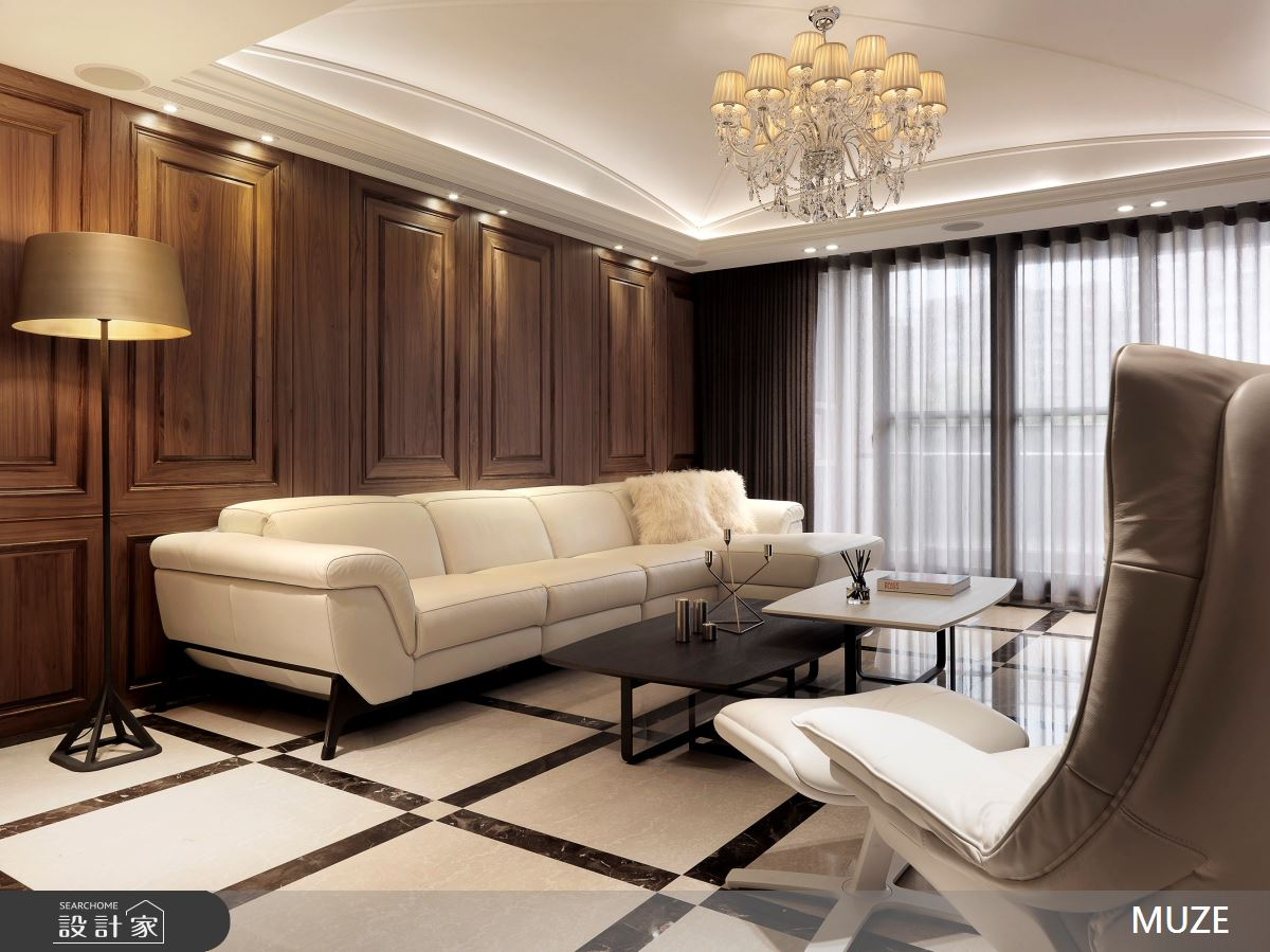 40坪老屋(16~30年)_奢華風客廳案例圖片_慕澤設計室內裝修股份有限公司_慕澤_54之2