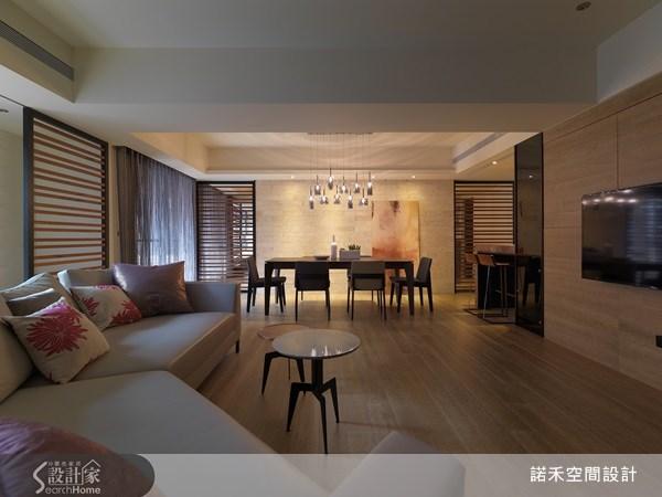40坪新成屋(5年以下)_休閒風客廳餐廳吧檯案例圖片_諾禾空間設計 上碩室內裝修_諾禾_04之1