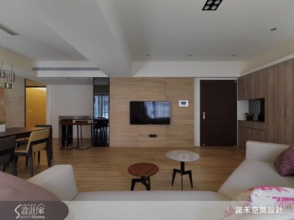 40坪新成屋(5年以下)_休閒風玄關客廳餐廳案例圖片_諾禾空間設計 上碩室內裝修_諾禾_04之3