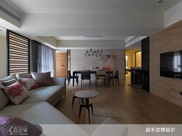 40坪新成屋(5年以下)_休閒風客廳餐廳吧檯案例圖片_諾禾空間設計 上碩室內裝修_諾禾_04之2