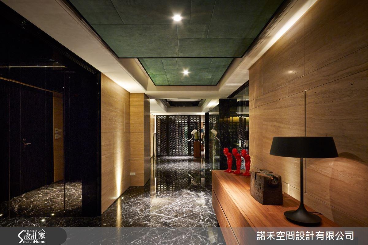 250坪新成屋(5年以下)_新中式風走廊案例圖片_諾禾空間設計 上碩室內裝修_諾禾_11之12