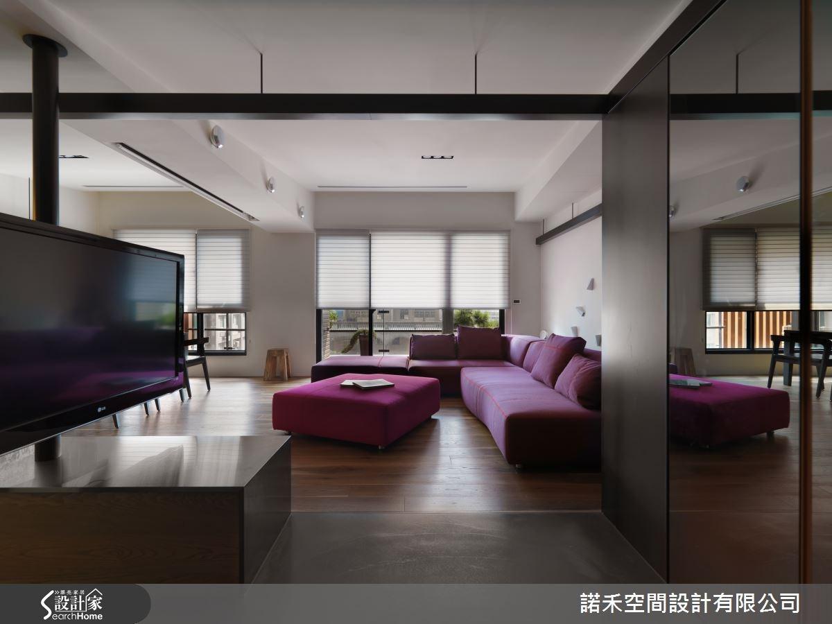 51坪新成屋(5年以下)_現代風客廳案例圖片_諾禾空間設計 上碩室內裝修_諾禾_12之2