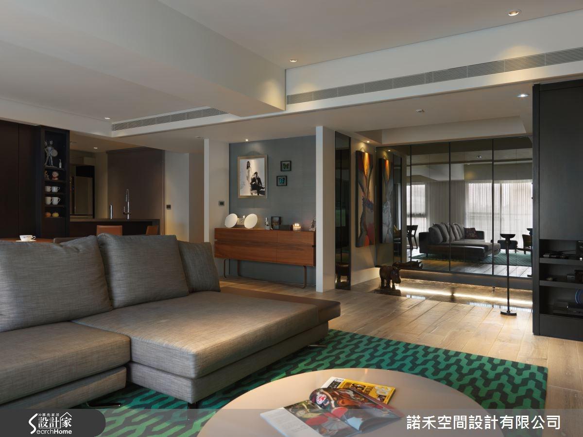 88坪新成屋(5年以下)_現代風客廳案例圖片_諾禾空間設計 上碩室內裝修_諾禾_13之4