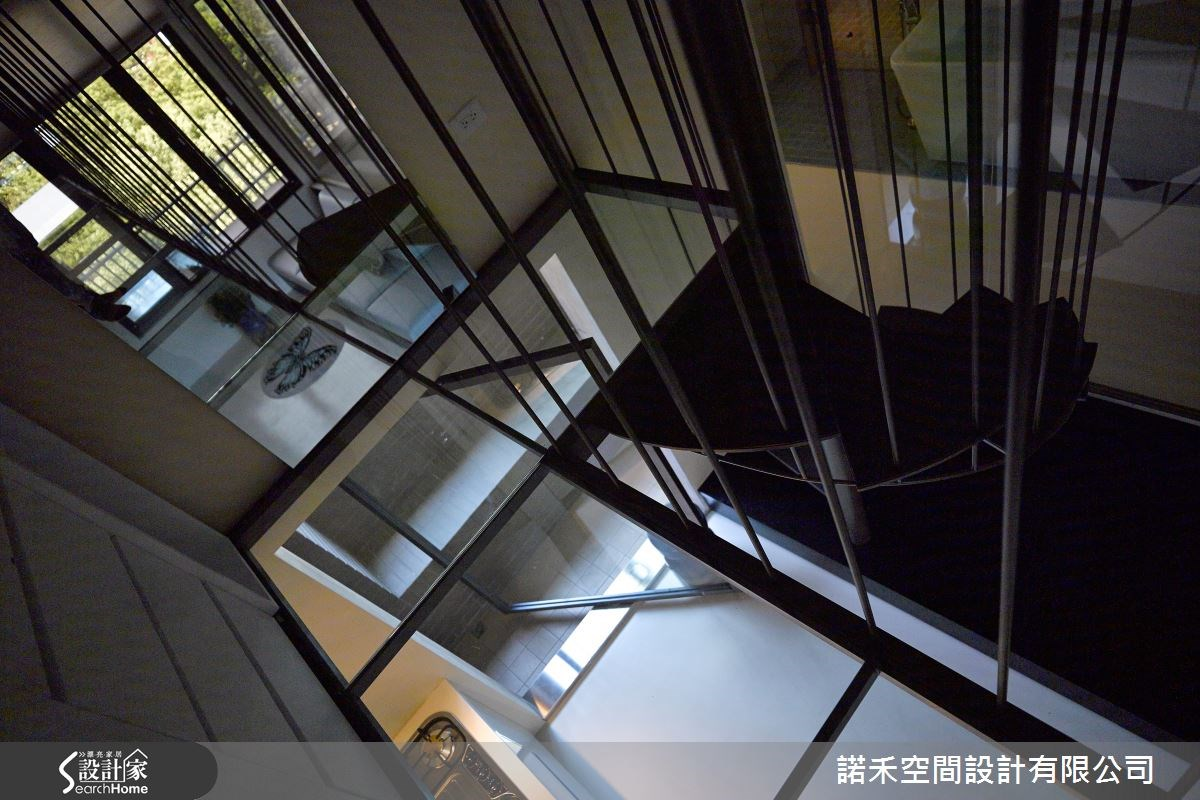 12坪新成屋(5年以下)_現代風樓梯案例圖片_諾禾空間設計 上碩室內裝修_諾禾_15之8