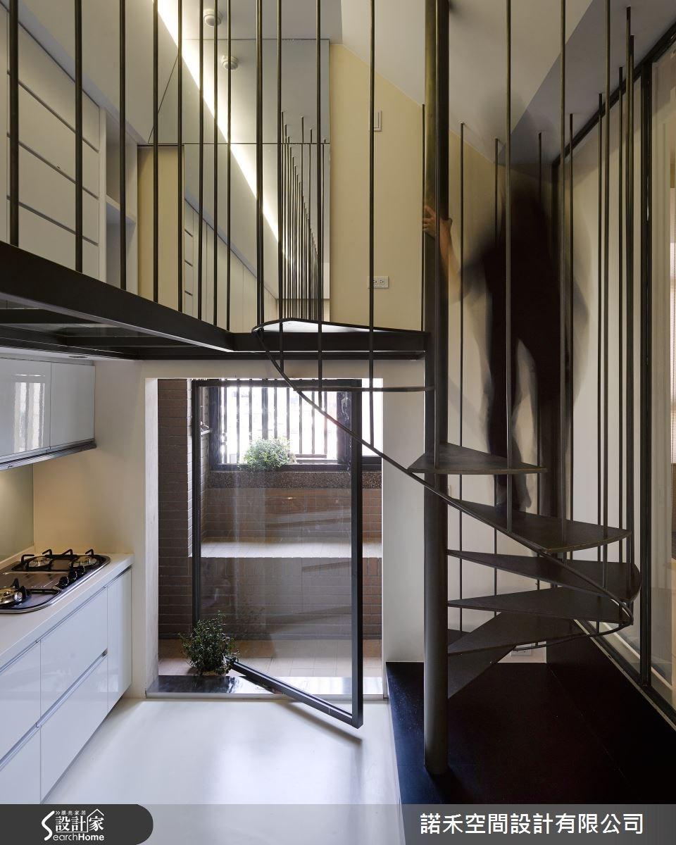 12坪新成屋(5年以下)_現代風樓梯案例圖片_諾禾空間設計 上碩室內裝修_諾禾_15之13