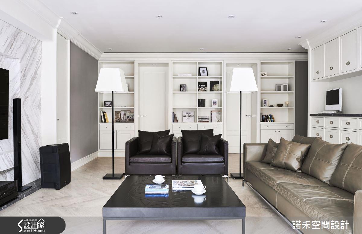 50坪新成屋(5年以下)_美式風客廳案例圖片_諾禾空間設計 上碩室內裝修_諾禾_17之1