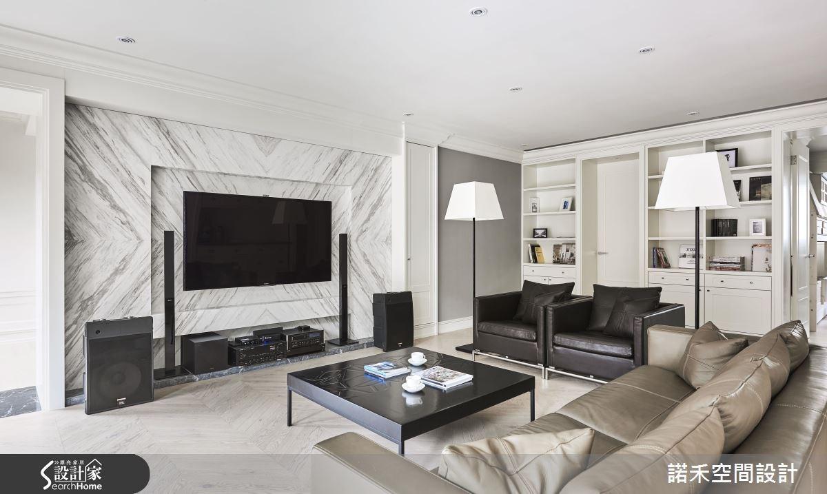 50坪新成屋(5年以下)_美式風客廳案例圖片_諾禾空間設計 上碩室內裝修_諾禾_17之3